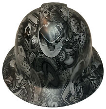Custom Hydro Dipped Hard Hat Ridgeline Full Brim Light Gray Gambler