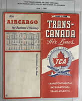 TCA Trans Canada Airlines Trans Atlantic Routes Brochure 1948