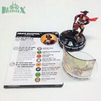 Heroclix Deadpool & X-Force set Pirate Deadpool #065 Chase figure w/card!