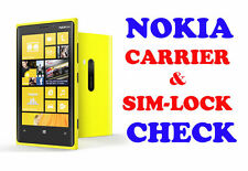 Fast  Nokia Lumia IMEI checker Network & Carrier Check Sim lock status
