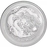 2012 Australia 1/2 oz Silver BU Year of the Dragon • Perth Mint New In Capsule!