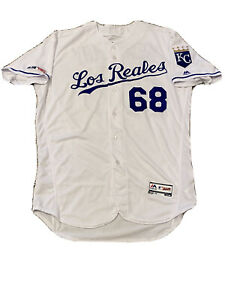 MLB Authenticated - Los Reales Jake Newberry Jersey Issued By Kansas City Royals