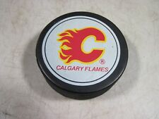 Vintage Calgary Flames Viceroy Hockey Puck Made In Canada NOS