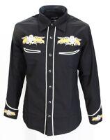 Black Yellow Rockabilly Western Cowboy Vintage/retro Shirts …