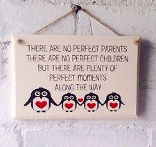 Fun Parenting Quote Wooden Sign. Penguins, Inspirational Gift, Fun Hallway Decor