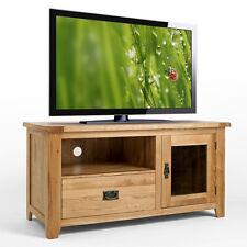Rustic Light Oak TV Unit Cabinet Stand | Solid Oak Living Room Furniture Cb07