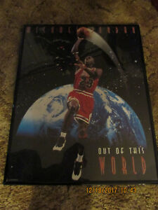 """Michael Jordan official licensed product 1995 poster Unused """"OUT OF THIS WORLD"""""""