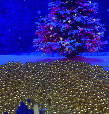 Christmas Decor Gold Beads Garland Nearly 100 Feet in 5 Strands New Untangled