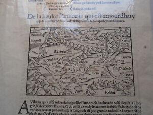 c1550 Antique Map Panonia, Panonie