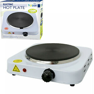 NEW! 1.5kW Electric Portable Easy Kitchen Single Hot Plate Household UK Hob
