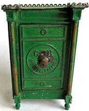 ANCIENNE TIRELIRE COFFRE FORT CR OLD SAFE MONEY BOX SAFE Sparschwein salvadanaio