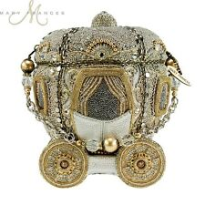 Mary Frances Cinderella Before Midnight Beaded Jewel Silver Gold Carriage Purse