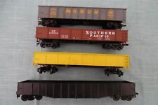 HO Scale Lot of 4, MONON, SOUTHERN PACIFIC & 2 UNDECORATED GONDOLA CARS VINTAGE