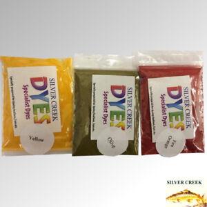 Silver Creek Fly Tying Dye 20g Flat Pack - Traditional, Intense & Flu Colours