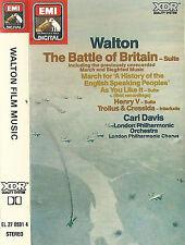 Walton Film Music Battle Of Britain Suite CASSETTE ALBUM Carl Davis  LPO &chorus