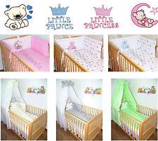 mit Applikation Baby Bettset für Bett 70x140 , Himmel, Bettwäsche  Nestchen