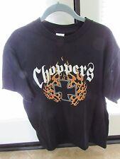 """MEN'S Black """"CHOPPERS FOREVER"""" MALTESE CROSS & Flames T-Shirt NOS L"""