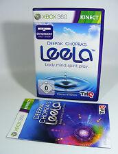 DEEPAK CHOPRAS LEELA für XBOX 360 xbox360 komplett mit OVP und Anleitung kinect