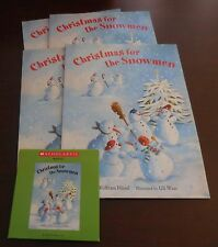 Christmas for the Snowmen New Scholastic Listening Center Set of 4 Books with CD