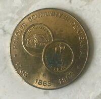 1963 Hanover Community Bicentennial Medal Token