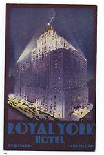 Great 1920s Art Deco Advertising Postcard Royal York Hotel Toronto Canada