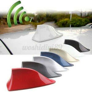 Shark Fin Roof Antenna Aerial FM AM Radio Signal Decoration Car Tr