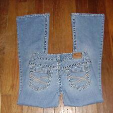 Womens Jeans Size 00 Short - Aeropostale Haliley LR Skinny Flare Distressed Str