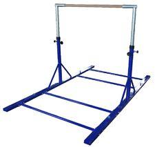 Gymnastics Bar 3-5 ft Adjustable Blue Bar Includes Extensions