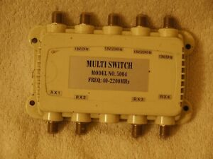 SATELLITE MULTI SWITCH MODEL 5004 FREQ: 40-2200MHZ