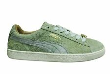 Puma Suede Classic x Sonra Green Leather Low Lace Up Mens Trainers 366330 01
