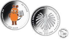 BRD 20 Euro 2021 50 Jahre Sendung mit der Maus 925er Silber *ST* in Münzkapsel