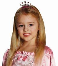 serre-tête, couronne paillettes argent rose, princesse, fée pierres précieuses