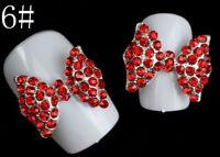 Bow Tie 3D Alloy Crystal Rhinestones Nail Art Tips Glitters DIY Decoration