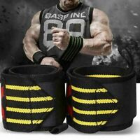 Wristband Weight Lifting Strap Fitness Sport Gym Wrist Support Wrap Bandage B3F5