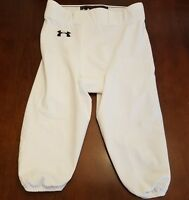 MEN'S UNDER ARMOUR WHITE ATHLETIC BASEBALL SHORTS SIZE LARGE