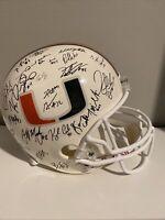 2001 Miami Hurricanes Football NATIONAL CHAMPS TEAM F/S Helmet W/48 Signatures