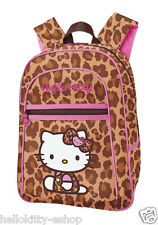 NEW AUTHENTIC SANRIO HELLO KITTY SCHOOL BOOK BAG BACKPACK PURSE red leopard
