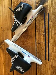 Vintage ZANDSTRA Ice Speed Skates with Riedell Boots Racing