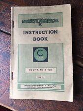 Morris Commercial C Type 30 cwt to 3 Ton Original Handbook 1937 Pub 156G
