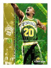 Gary Payton 1995-96 Fleer Seattle Supersonic Insert Basketball Card