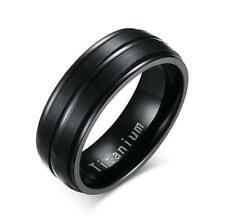 Men Women Stainless Steel Titanium Band Ring Wedding Engagement Size 7-13