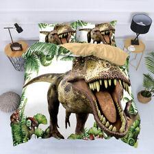 Jurassic Dinosaur Quilt Duvet Cover Set Kids Bedding Set Twin Full Queen King