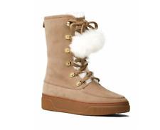 Michael Kors Juno Lace Up Boots, Dk Khaki Size 8M