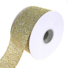 Metallic Marvel Wired Christmas Holiday Ribbon, Silver/Gold, 2-1/2-Inch, 10 Yard