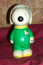 Old Snoopy Danara Piggybank Vintage Peanuts Charlie Brown Coin Kids Money 1960s