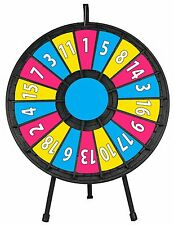 """31"""" Insert Your Own Graphics Prize Wheel with 18 Slots on a table stand!"""