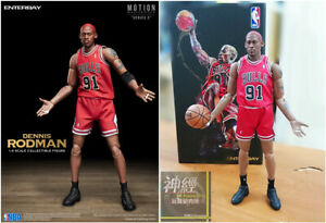ENTERBAY 1/9 Scale Dennis Rodman ACTION FIGURE NBA CHICAGO BULLS MM-1209