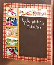 Country Berry Star Primitive Chalkboard Photo Frame Fridge Magnet Decor