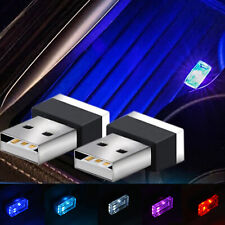 5 Color Mini USB LED Wireless Lamp Car Atmosphere Light Colorful Accessories UK