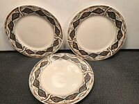 3 MAJESTICWARE ''CANYON'' SALAD PLATES BY SAKURA GENUINE STONEWARE   7 5/8''